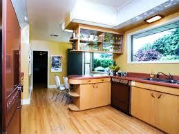 mid century modern kitchen white. Mid Century Modern Galley Kitchen White Color Vintage Wooden
