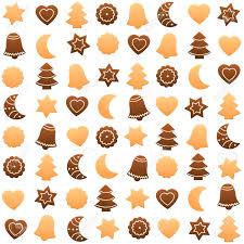 Kerstkoekjes Assortiment Naadloos Behang Kan Worden Gecreëerd Geïsoleerde Vector Illustratie Op Een Witte Achtergrond