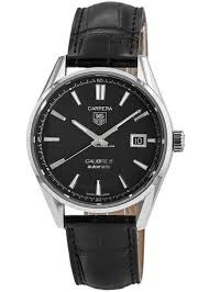 tag heuer carrera calibre 5 39mm automatic black dial leather for 1 695 for from a trusted er on chrono24
