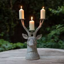 Grand Stag Head Candle Holder | Flower Studio Shop