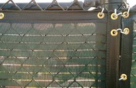 chain link fence privacy screen. Green Open Mesh Installed On A Fence With Hogrings. Note How The Screen Does Not Start From Very Top Of But In Valley Where Diamonds Chain Link Privacy