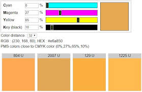 Pantone Colors To Cmyk Conversion Chart Cmyk To Uncoated Pms Colors