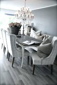 dining table with fabric chairs grey rustic dining table with beautiful fabric chairs the bination is