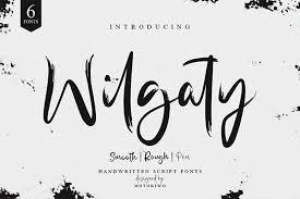 wilgaty script font