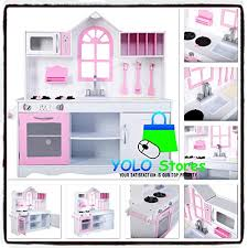 yolo s wooden kitchen pretend play toy kids cooking toddler toys children girls role wood set