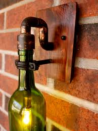 Making Wine Bottle Lights Wine Bottle Light Lamp Industrial Sconce Exterior 40 Watt