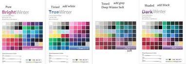 16 Color Chart Four Winters 16 Seasons System Season Colors Color