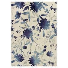kas rugs flower blast blue ivory 5 ft x 8 ft area rug