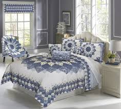 azure dahlia quilts throws shams pillows and accessories by donna sharp