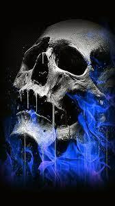 hd blue flaming skull wallpapers peakpx