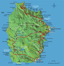isle of flores (the isle of flowers) map flores in the azores