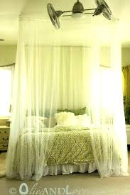 Queen Size Canopy Bed Curtains Bed Frame With Curtains Bed Frame ...