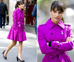 lea michele is gorgeous in hot pink on glee set