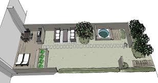 Small Picture A narrow Scandinavian row house garden designed with Sketchup