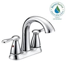 glacier bay asher 4 in centerset 2 handle bathroom faucet in chrome with pop