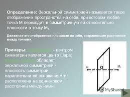 Презентация на тему Презентация по геометрии на тему  2 Определение Зеркальной