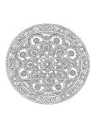 Pour Imprimer Ce Coloriage Gratuit Coloriage Mandala Difficile 1