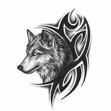 2 шт черная голова волка тату водостойкие временные наклейки временный боди арт