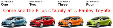 Toyota Prius Comparison Chart Differences For The Prius C Trims