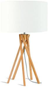 Goodmojo Kilimanjaro Table Lamp Bambooeco Linen White Shade