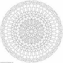 Flower Mandala Coloring Pages 357