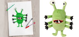 kids-drawings-turned-into-plushies-soft-toys-education- IKEA Turned Children\u0027s Drawings Into Real Plush Toys To Raise Money