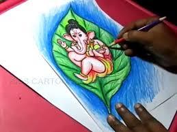 How To Draw Leaf Ganesha Drawing Step By Step