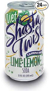 shasta t lime lemon twist soda 12 ounce cans pack of 24