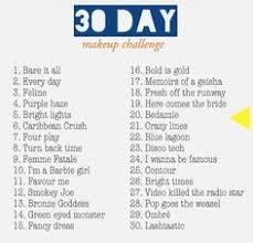 30 day challenge make up challenge
