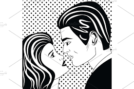Man And Woman Pop Art Couple