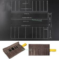 Leather Templates Roll Storage Bags Acrylic Templates Punch Leather Pattern 852 Model