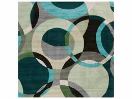 surya forum square dark green ivory black area rug syfm7157squ