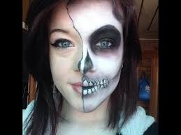half face zombie makeup make zombie face geisha makeup tutorial for walking dead inspired
