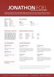Gallery Of Graphic Design Resume Templates Basic Resume Templates
