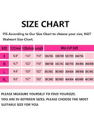 Walmart Time And Tru Size Chart Sayfut Sports Bra For Women Padded Workout Bras Light