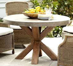 round outdoor dining table for 6 round dining table pottery barn inside wood outdoor plan 66 round outdoor dining table