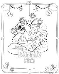 Print Trolls Dazzle Pixie Coloring Pages Maschere E Disegni Da