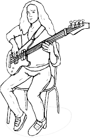 Small Picture Guitar player coloring pages Bass guitar player coloring page