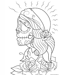 Print Day Of The Dead Gypsy