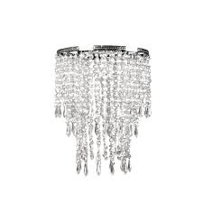 1 light faux crystal chrome pendant
