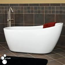 freestanding tub with end drain acrylic slipper air bath no overflow mesmerizing faucet freestanding tub with