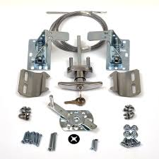garage door lock kit w spring latch keyed in handle