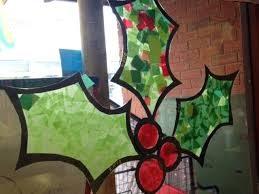 holly stained glass window