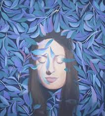 saatchi art artist mariia datsiuk painting portrait painting woman portrait acrylic painting on