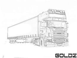Scania Truck Free Colouring Pages