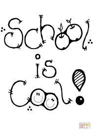 School is Cool coloring page | Free Printable Coloring Pages
