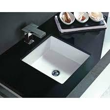 undermount bathroom sink. Vitreous China Undermount Square Sink Bathroom