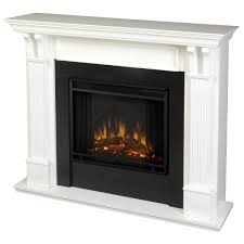 interesting electric fireplace insert with white mantel kit and black frame for home ideas