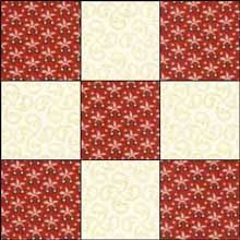 Irish Chain Quilt Pattern: Single, Double and Triple Irish Chain ... & Single Irish Chain Quilt Block 1 Adamdwight.com