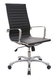 Joplin High Back Executive Chair  Black ECO Leather